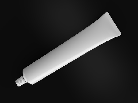tube top: A render of isolated generic toothpaste tube