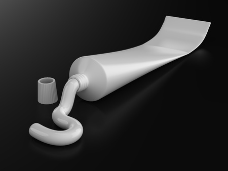 A render of isolated generic toothpaste tube