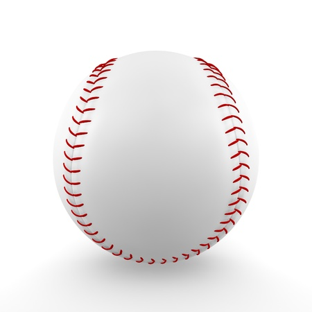 A render of an isolated classic baseball Imagens