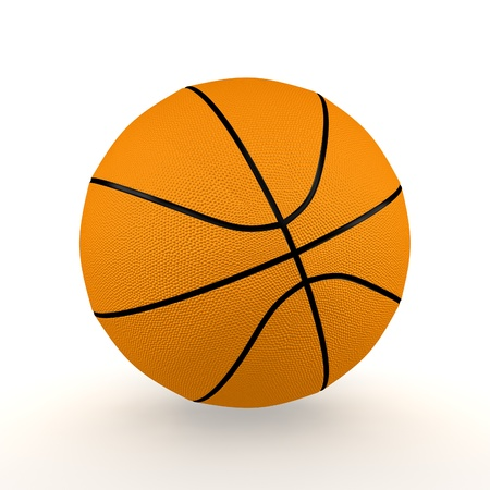 A render of an isolated classic basketball Stock Photo - 8955016