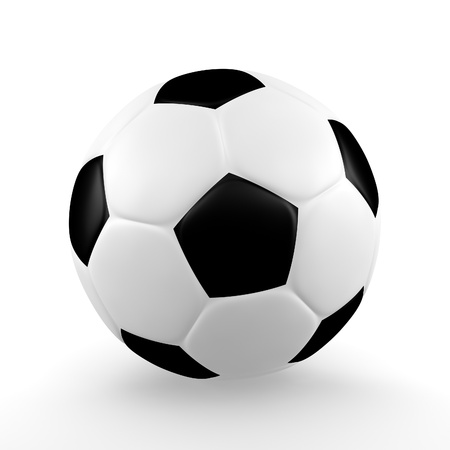 A render of an isolated classic soccerball
