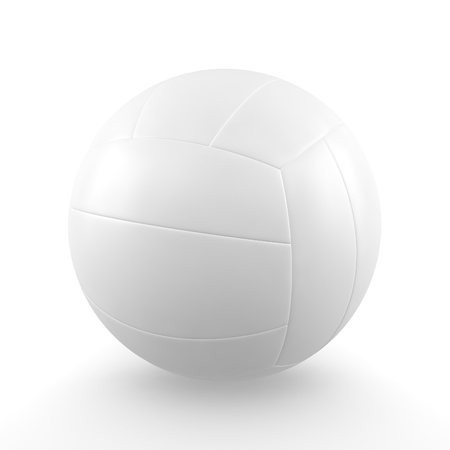 A render of an isolated classic volleyball