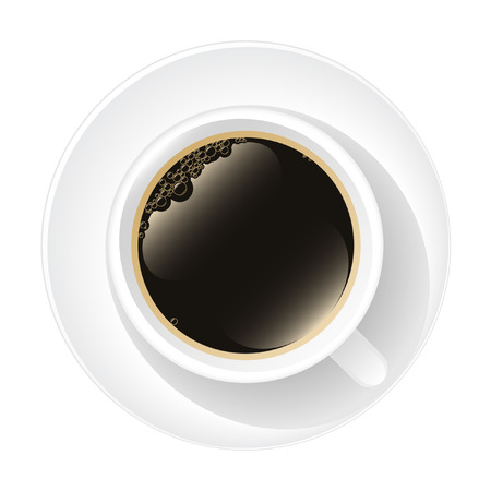 Een kopje koffie Stock Illustratie
