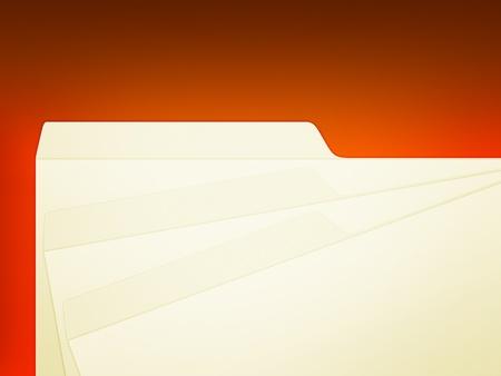 An illustration of 3 stack manila folders over red Imagens