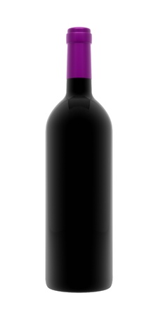 A render of an isolated bordeaux wine bottle
