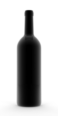 A render of an open bordeaux wine bottle Imagens - 9334548