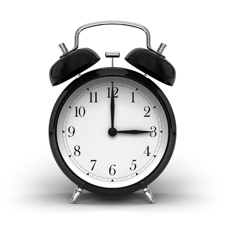 a render of a vintage alarm clock