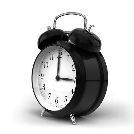 clock: a render of a vintage alarm clock
