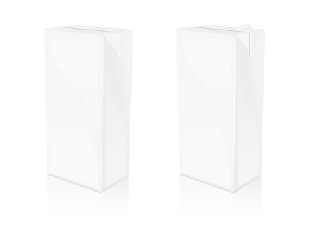 A vector of 2 different pasteurized blank bottles Imagens - 9616466