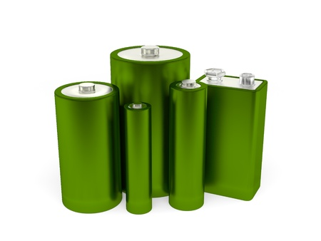 A render of a group of different batteries Imagens - 9915630