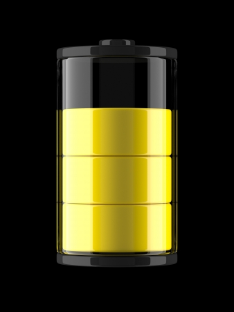 A render of an icon of a charge of a battery photo