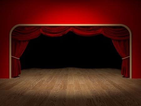 Maken van de gordijnen van een theater
