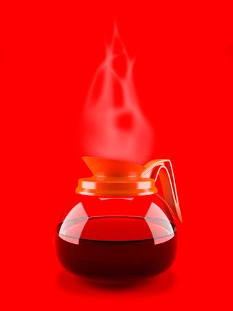 Koffiezetapparaat pot ketel met stoom