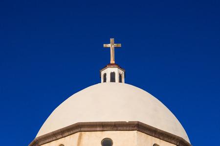 crucifiction: Historic Landmark old mexican church in San Luis Colorado near New Mexico