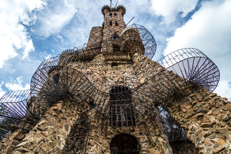 isabel: bishop castle is a home-made stone castle and popular tourist location for people on vacation in Southern Colorado near Pueblo and Colorado City. It is located inside the San Isabel National Forest. Editorial