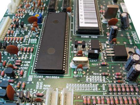 printed circuit board: Partie de cartes de circuits imprim�s avec des composants �lectroniques Banque d'images