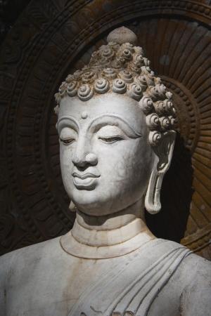 budda: Buddha, face of budda statue in Suan Mokkh Buddhist temple Stock Photo
