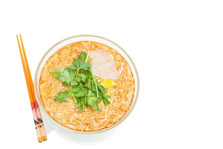 noodle soup: Delicious noodle soup with fresh vegetables