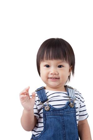 black hairs: Beautiful baby, black hairs, isolated on white,