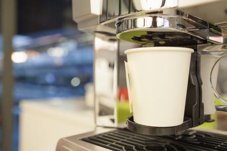 cappaccino: Espresso machine making coffee in pub, bar, restaurant