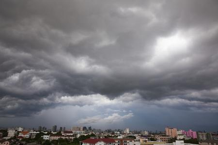 heavy rain: Sky Grey-cloud and heavy rain at Bangkok, Thailand.