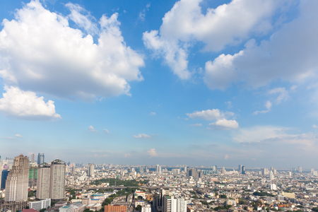 beaty: Bangkok scape, beaty clouds clear sky scenery of the city center at Bangkok, Thailand, Asia Stock Photo