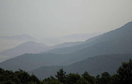 blue ridge: NC Mountains, Blue Ridge Stock Photo