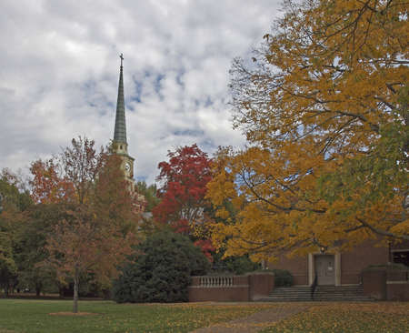 nc: Davidson NC college Chapel in the fall