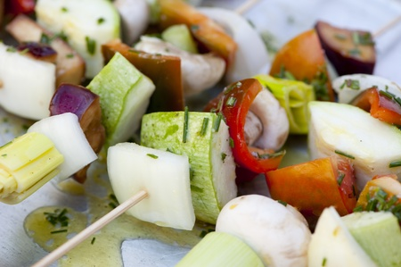 Vegetable brochettes for a healthy food Stock Photo - 12042996