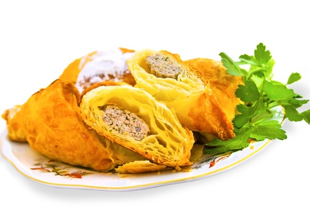 delicious puff with meat