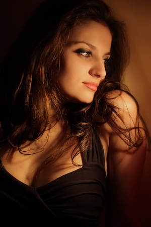 Portrait of beautiful sexy woman photo