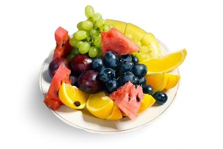 fresh fruits on plate