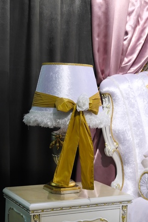 styled interior: Luxurious table lamp