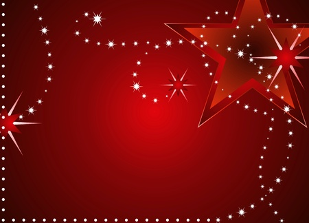 Red Christmas stars backgrounds with space for text  photo