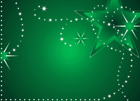 Green Christmas stars backgrounds with space for text  Stock Photo