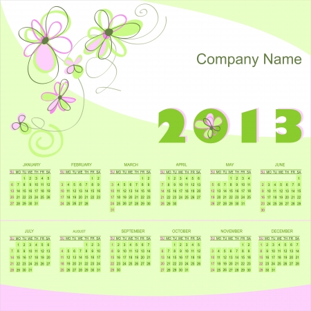 2013 calendar grid Stock Vector - 14802651