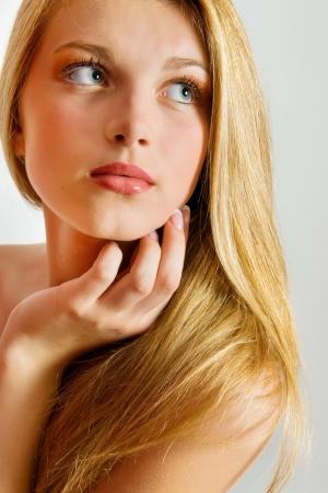 blonde hair: Beautiful Blond Girl  Blonde Hair