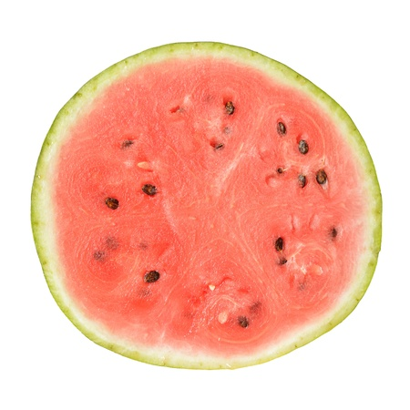 water melon: slice of whole watermelon isolated on white background