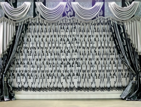 background with gray curtain photo