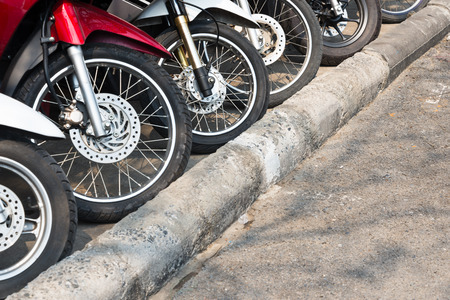 Parking motorcycle Stock Photo - 27535271