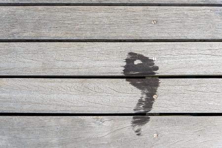 Disparaître des empreinte humide Banque d'images - 29875511