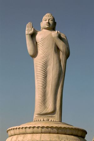 preaching: Statue of preaching Buddha in a  standing pose
