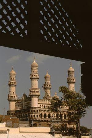 andhra: Famous monument Char Minar, Hyderabad, Andhra Pradesh, India