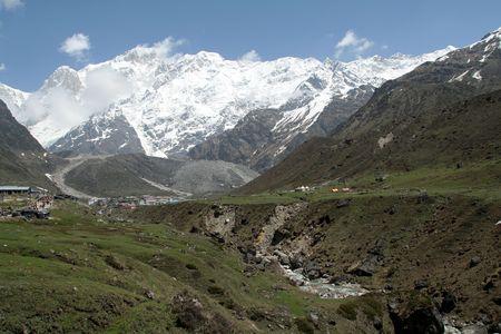 View of trekking path to Kedarnath, Uttarakhand State, India Stock Photo