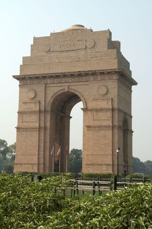 India Gate where ample tribute is paid to ear victims, Delhi, India, Asia