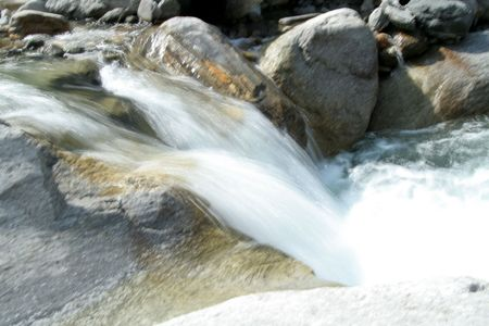 delightful: Delightful sight of water flowing through rocks