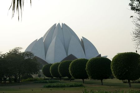 house of worship: Lotus Temple, Bahai House of Worship, Delhi, India