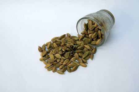 cardamum: Cardamom or Cardamum is aromatic Asian plant, Elettaria cardamomum, seeds of which are used as spice Stock Photo