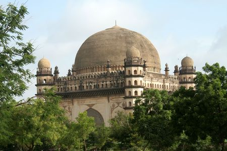reverberate: Gol Gumbaz, the second biggest dome in the world, at Bijapur in Karnataka, India, Asia