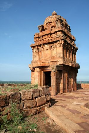 Lower Shivalaya Temple on northern hill at Badami, Karnataka, India, Asia Stock Photo - 5961105